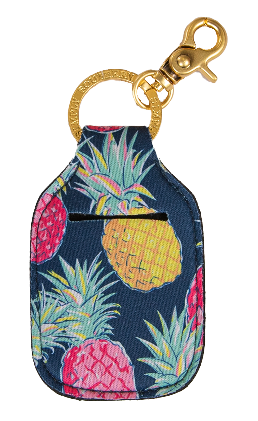 Keychain Sanitizer Holder - Pineapple