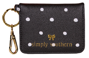 Butterfly Leather Wallet - Dots