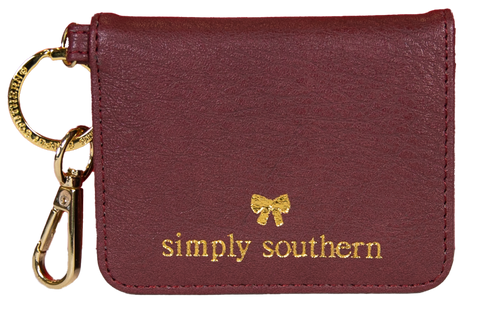 Butterfly Leather Wallet - Maroon