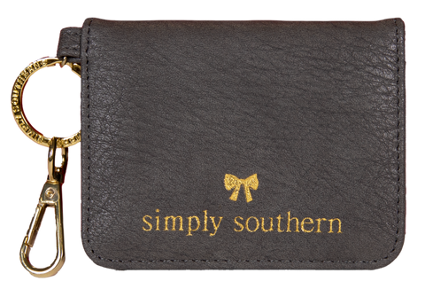 Butterfly Leather Wallet - Stone