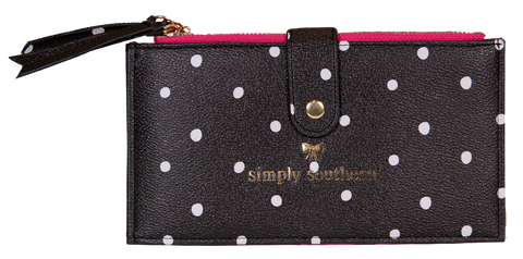 Double Zip Wallet - Dots