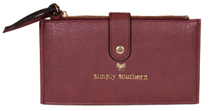 Double Zip Wallet - Maroon