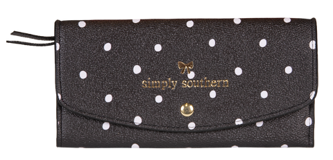 Large Card Holder Wallet - Dots