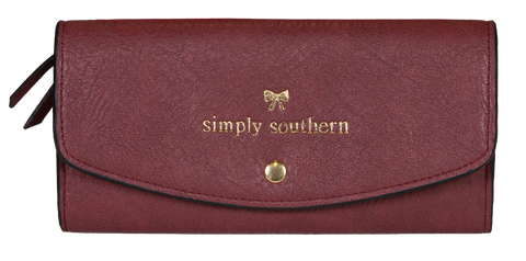 Large Card Holder Wallet - Maroon
