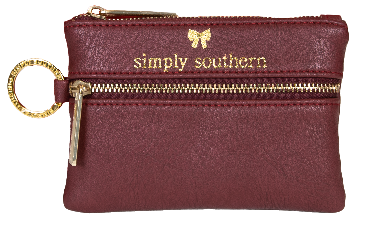 MIni Zip Wallet - Maroon