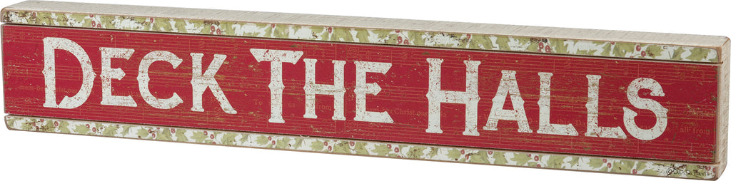 deck the halls sign