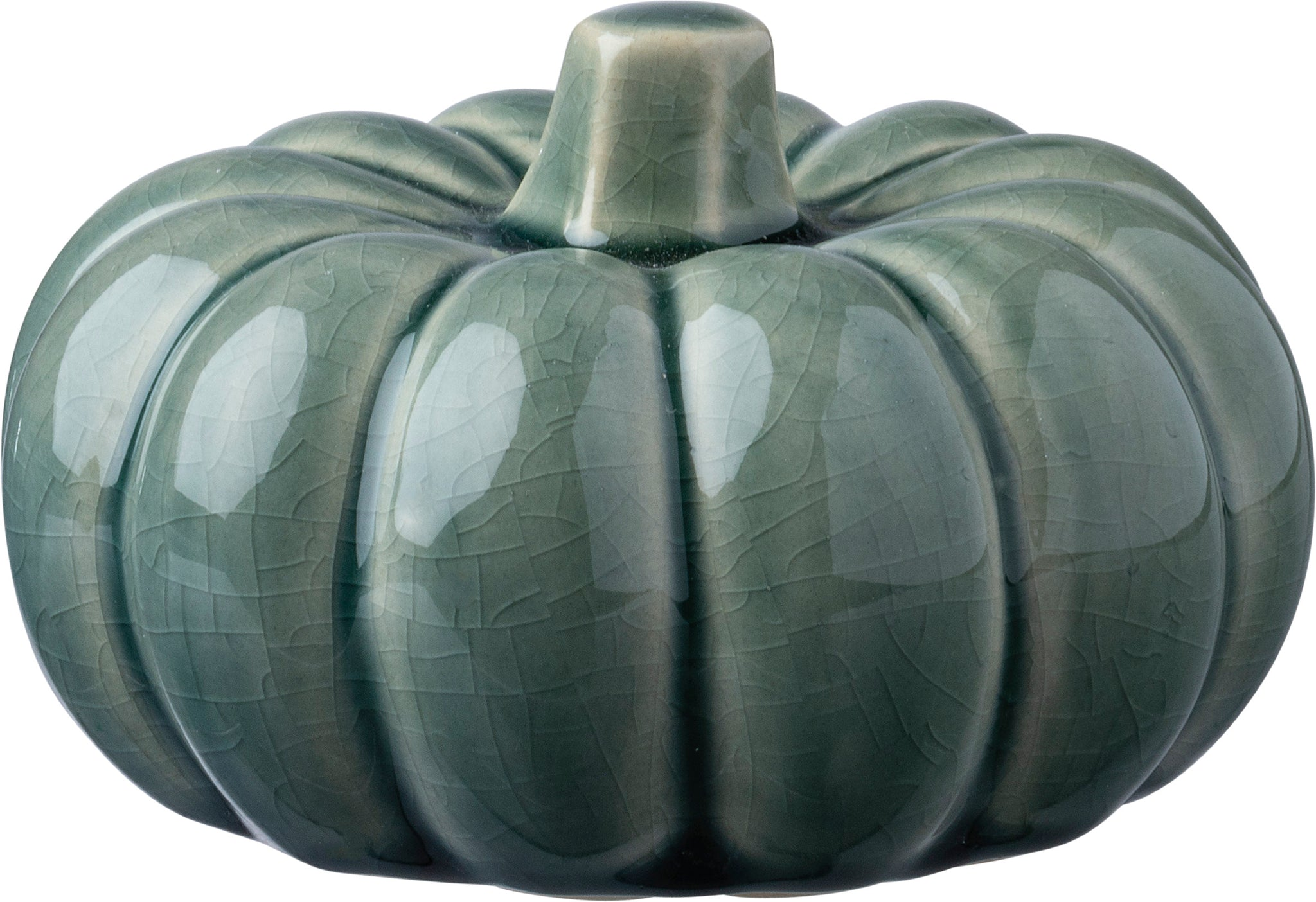 Ceramic Pumpkin - Small Green