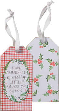 Bottle Tag - Merry Glass