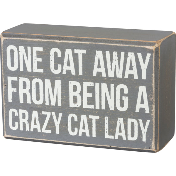 Box Sign & Sock Set - One Cat Away