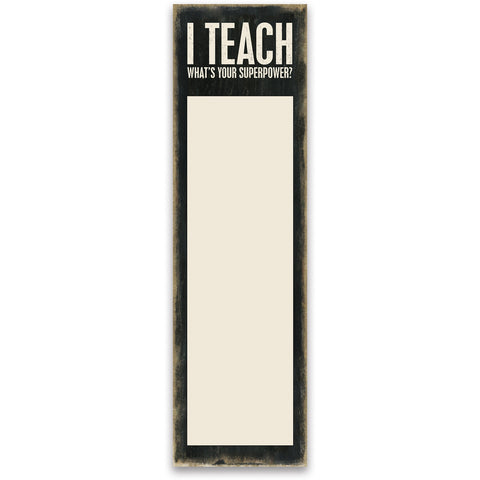 List Notepad - I Teach What's Your Superpower