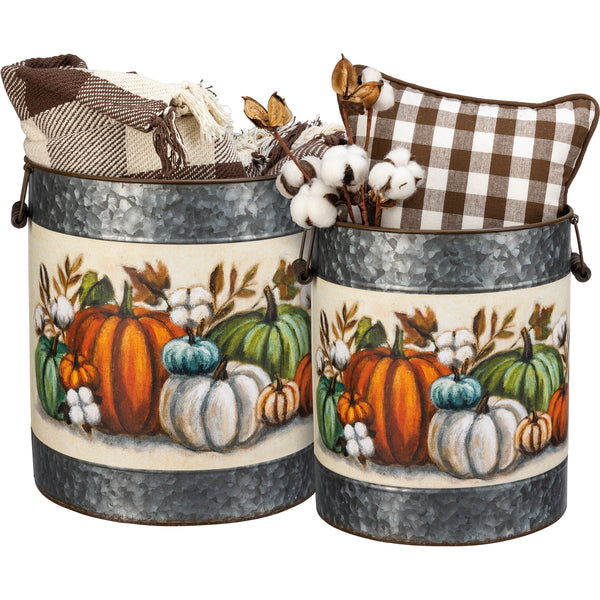 Pumpkin Buckets - 2 sizes