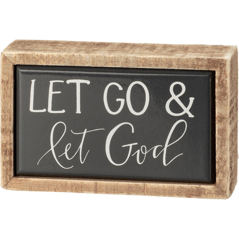 Box Sign Mini - Let Go & Let God
