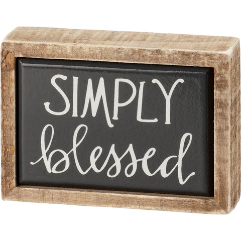 Box Sign Mini - Blessed