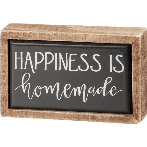 Box Sign Mini - Happiness Is Homemade