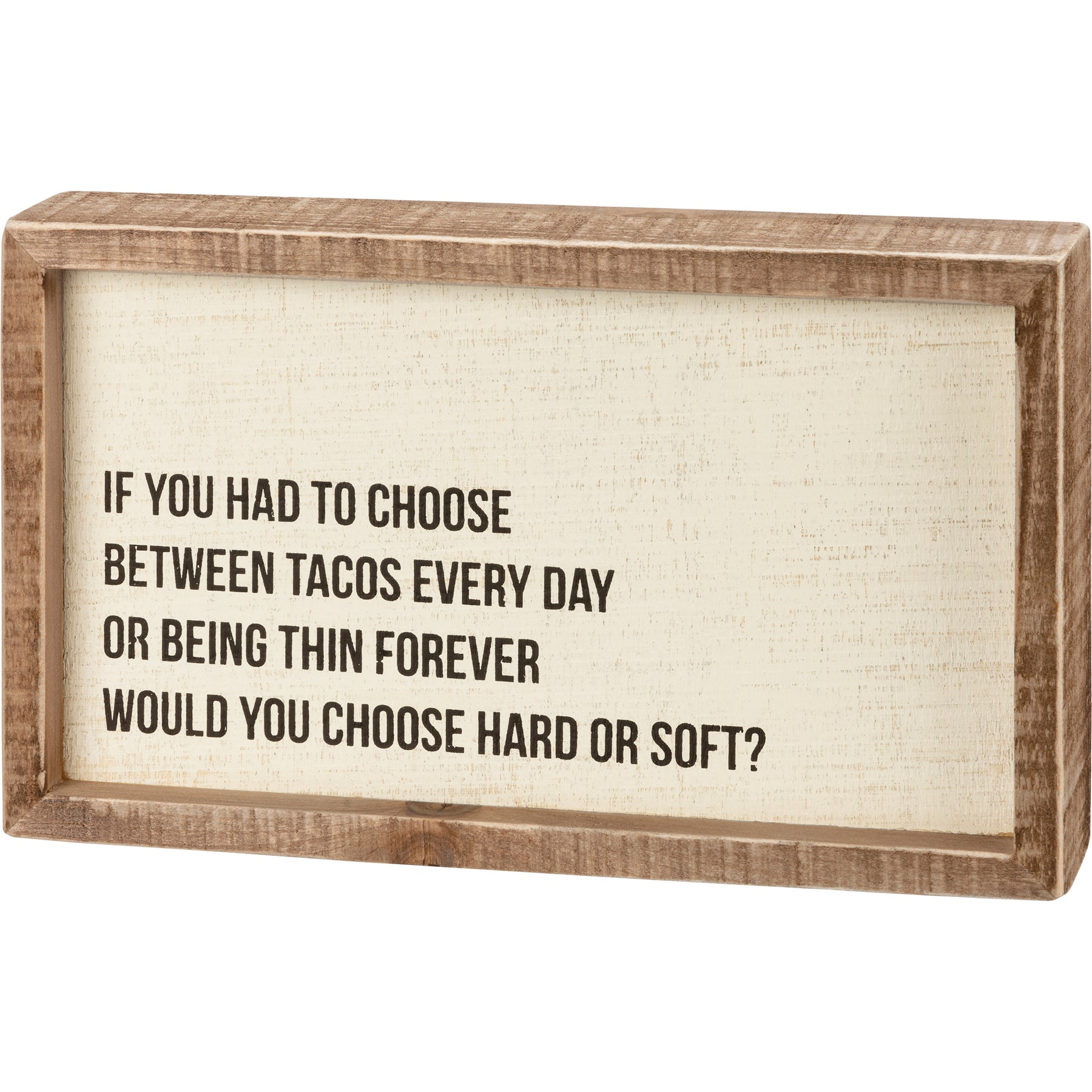 Inset Box Sign - Hard Or Soft