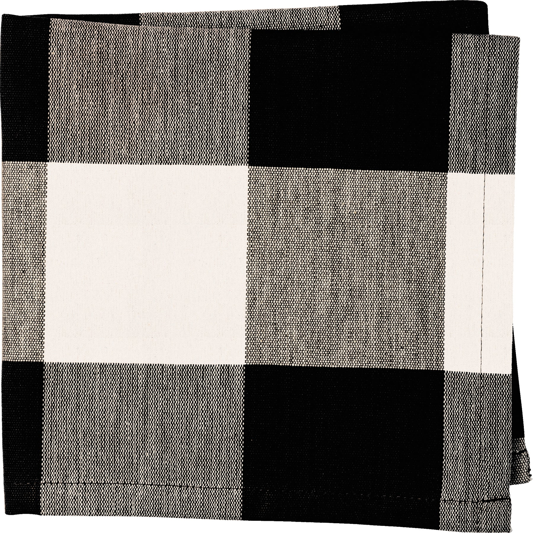 Napkin - Black Buff Check