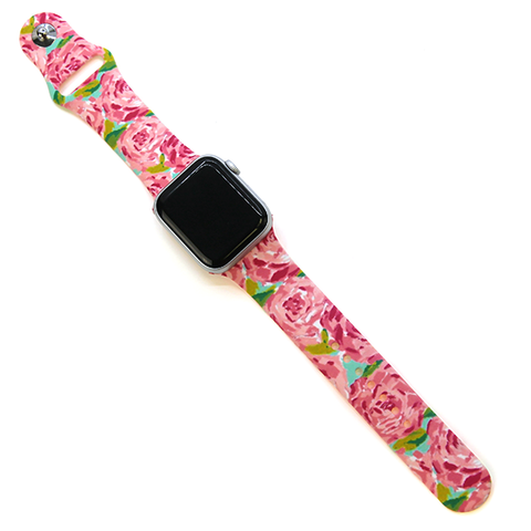 Watch Band - Rose Floral Pink