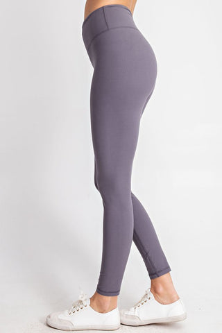 Buttery Soft Full Length Leggings - Titanium