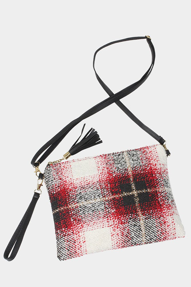 Tartan Plaid Crossbody / Clutch Bag