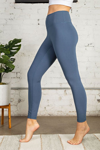 Buttery Soft Full Length Leggings - Vintage Denim