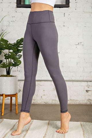 Buttery Soft Full Length Leggings - Charcoal