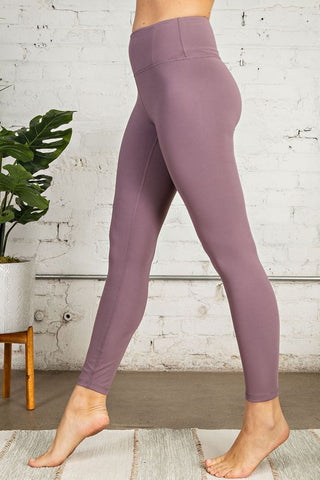 Buttery Soft Full Length Leggings - Frosted Mulberry