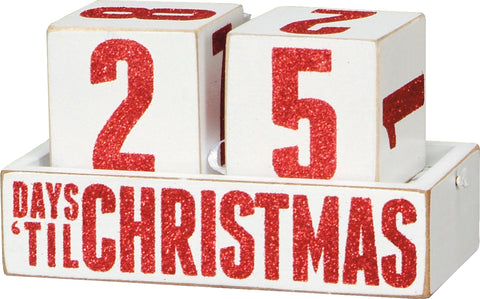 Block Countdown - Days `till Christmas