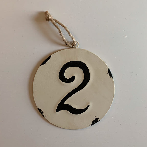 Rustic Metal Numbers with Rope