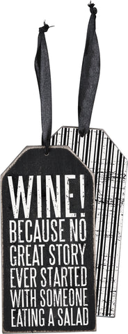 Bottle Tag - Wine Because