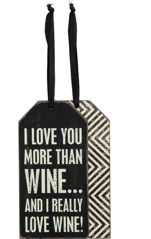 Bottle Tag - More Than Wine
