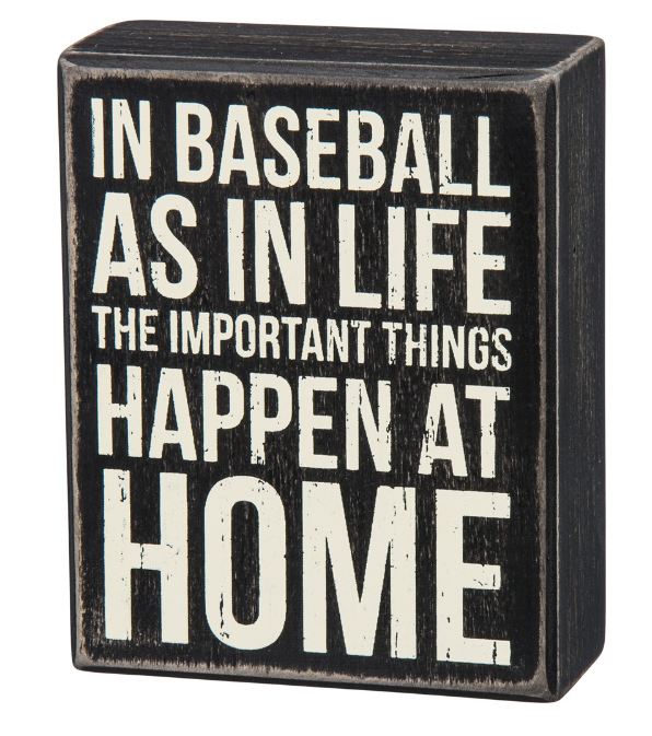 baseball home decor sign