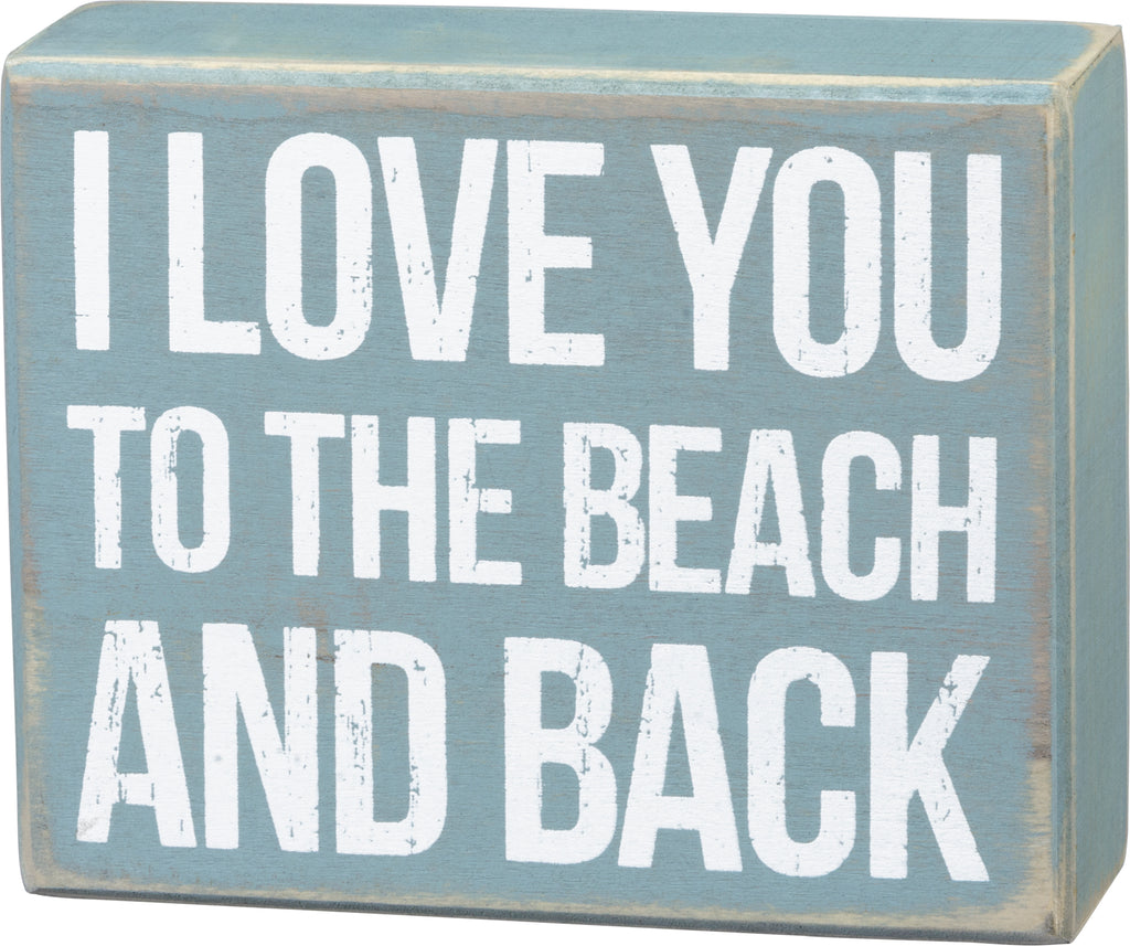 Box Sign - Beach And Back
