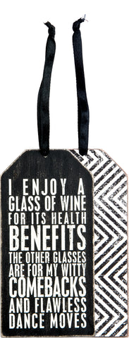 Bottle Tag - Glass Of Wine