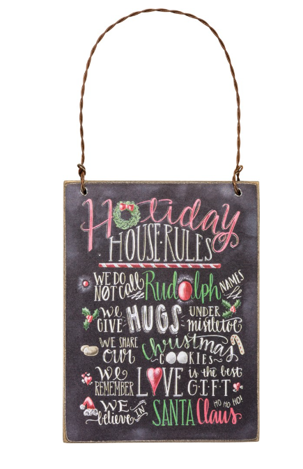 holiday house rules ornament
