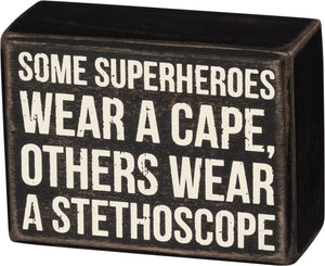 Box Sign - Stethoscope