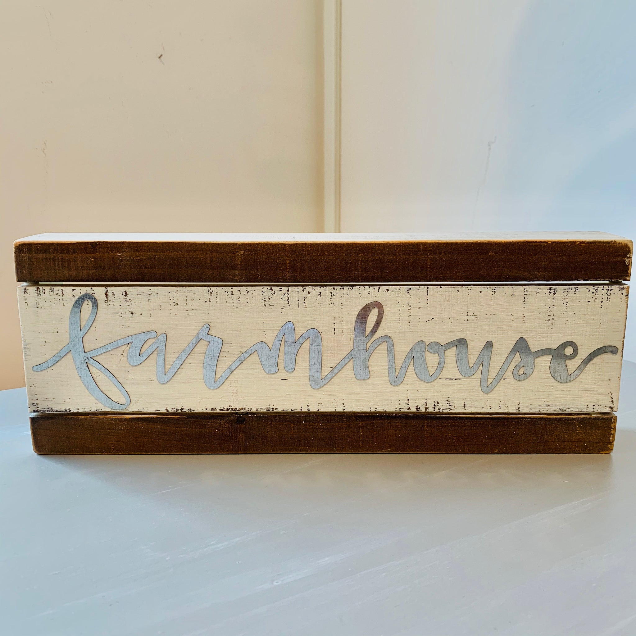 Slat Box Sign - Farmhouse