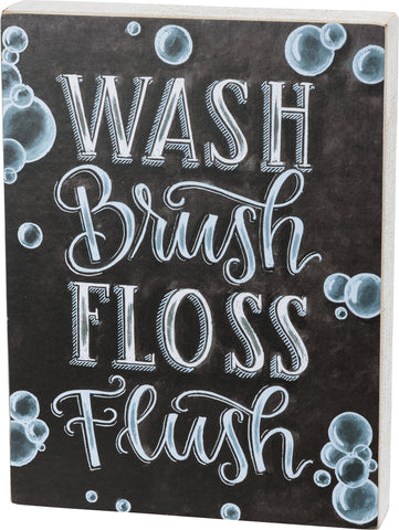 Chalk Sign - Wash Brush Floss