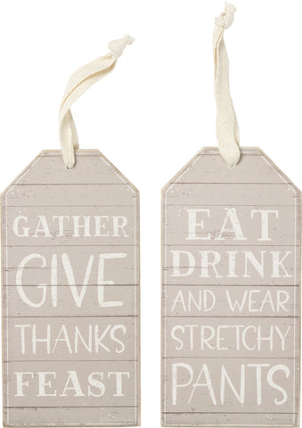 Bottle Tag - Eat Drink And Wear Stretchy Pants