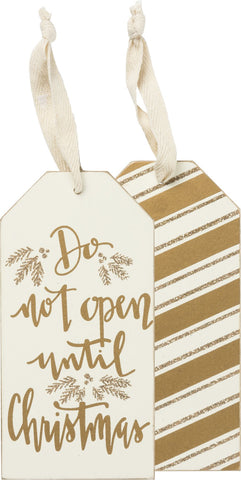 Bottle Tag - Do Not Open Until Christmas
