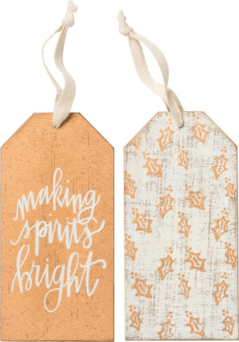 Wine Tag - Making Spirits Bright