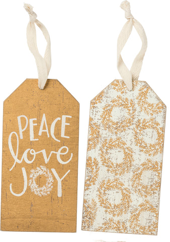 Bottle Tag - Peace Love Joy
