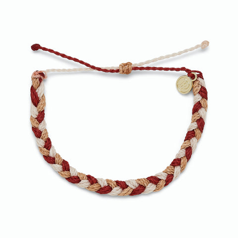Fire Thick Braided Bracelet