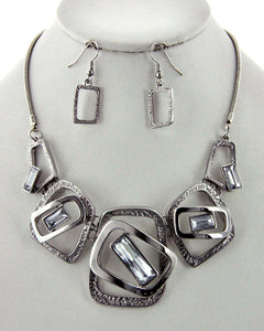 Silver Necklace/Earring Set