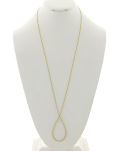 Open Gold Oval Necklace