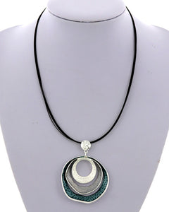 Grey & Black Fashion Necklace