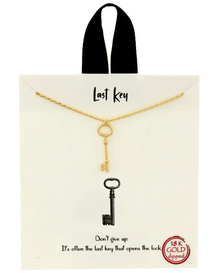 Last Key Gold Tone Necklace
