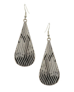 Burnished Silver Dangle Earrings