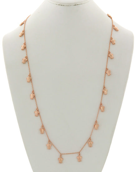 Rose Gold Turtle Long Necklace