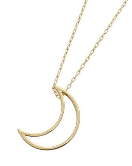 Gold Moon Long Necklace