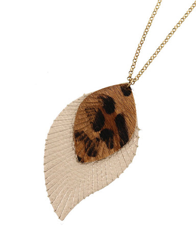 Animal Print Leatherette Necklace